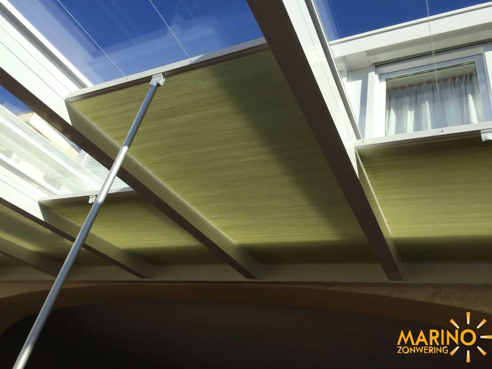 Marino plissé zonwering voor lichtstraat en veranda ...